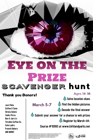 ScavHuntEye on the Prize Flyer
