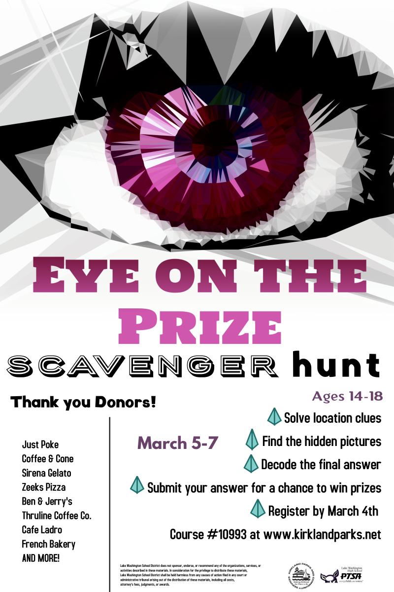 ScavHuntEye on the Prize Flyer